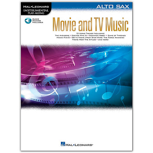 Hal Leonard Movie and TV Music for Alto Sax Instrumental Play-Along Book/Audio Online