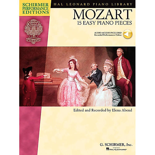 Hal Leonard Mozart: 15 Easy Piano Pieces - Schirmer Performance Edition Book/CD By Mozart / Abend