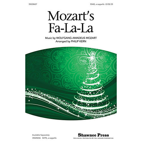 Shawnee Press Mozart's Fa-la-la SAB A Cappella arranged by Philip Kern