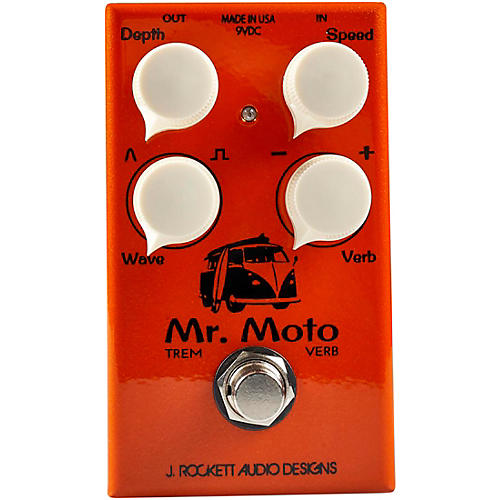 Rockett Pedals Mr. Moto Tremolo and Reverb Effects Pedal