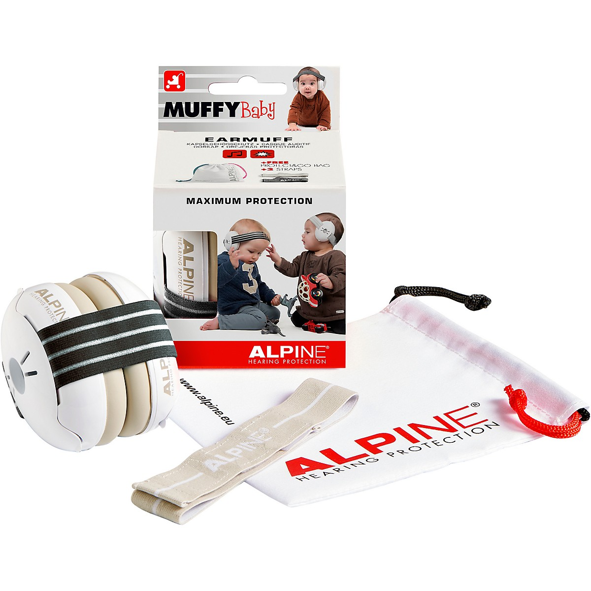 Alpine Hearing Protection Muffy Baby Black Protective Headphones