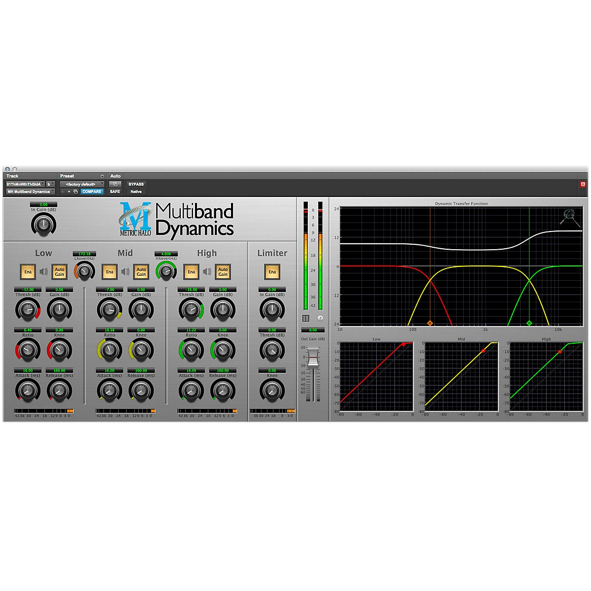 METRIC HALO Multiband Dynamics for Pro Tools AAX