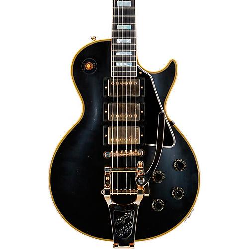 Gibson Custom Murphy Lab 1957 Les Paul Custom Reissue 3-Pickup Bigsby Light Aged Electric Guitar