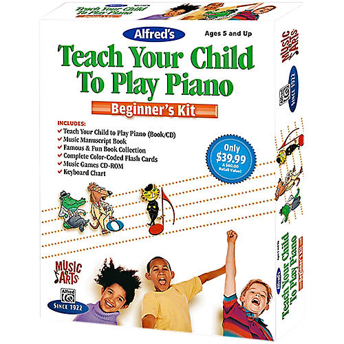 Alfred Music & Arts Teach Your Child To Play Piano Beginner's Kit