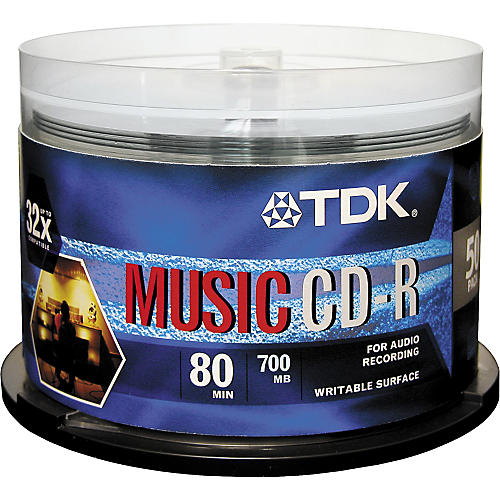 TDK Music CD-R 32X 80-Min 50 Pack Spindle