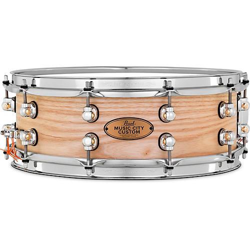 Pearl Music City Custom Solid Shell Snare Ash in Hand-Rubbed Natural Finish