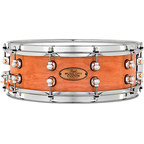 Pearl Music City Custom Solid Shell Snare Cherry in Hand-Rubbed Natural Finish