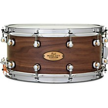 Music City Custom Solid Shell Snare Walnut in Hand-Rubbed Natural Finish 14 x 6.5 in.