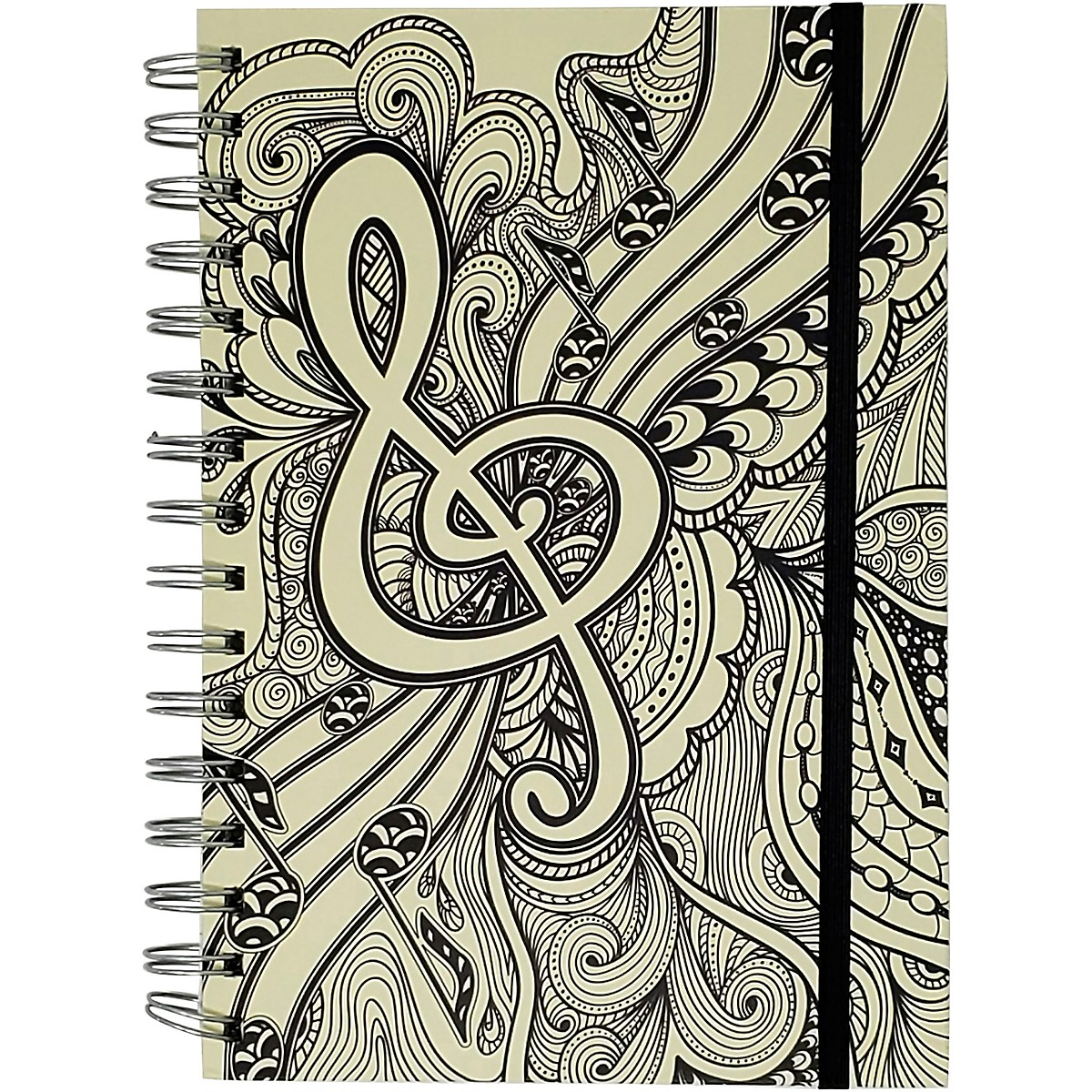 Pyramid America Music Note Line Sketch Premium Journal