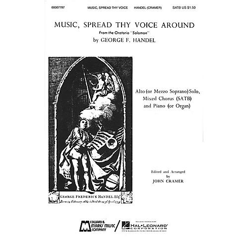 Edward B. Marks Music Company Music, Spread Thy Voice Around SATB composed by George Friedrich Handel