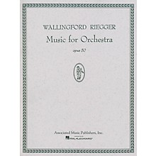 Associated Music for Orchestra, Op. 50 (Full Score) Study Score Series Composed by Wallingford Riegger