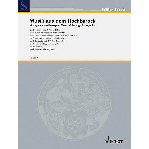 Schott Music of the High Baroque Era (Performance Score) Schott Series by Various