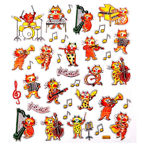 AIM Musical Cat Stickers