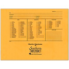 Southern Musidex Band/Orchestra Concert Size Filing Envelope Concert Band