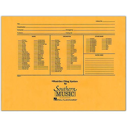 Southern Musidex Band/Orchestra Concert Size Filing Envelope Concert Band