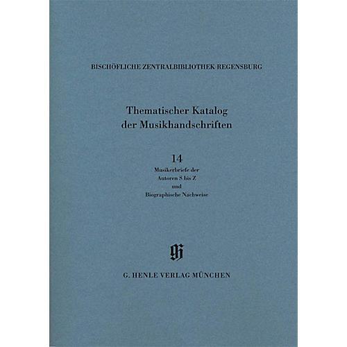 G. Henle Verlag Musikerbriefe 2 Autoren S bis Z und biographische Hinweise Henle Books Series Softcover