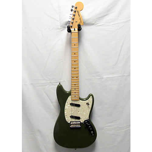 used fender mustang solid body electric guitar army green guitar center. Black Bedroom Furniture Sets. Home Design Ideas