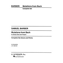 G. Schirmer Mutations from Bach (Score and Parts) Concert Band Composed by Samuel Barber