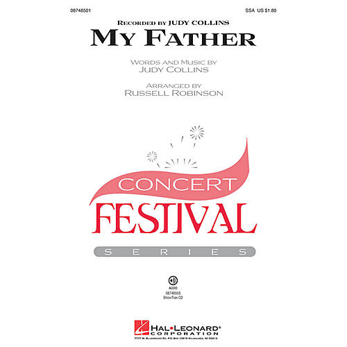 Hal Leonard My Father ShowTrax CD by Judy Collins Arranged by Russell Robinson