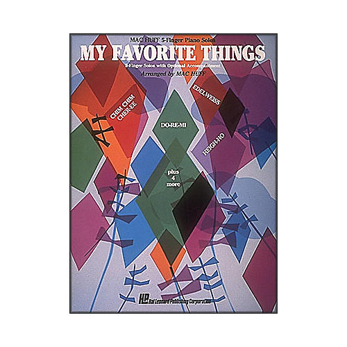 Hal Leonard My Favorite Things for Five Finger Piano with Optional Accompaniment