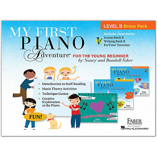 Faber Piano Adventures My First Piano Adventure Level B Bravo Pack - For the Young Beginner