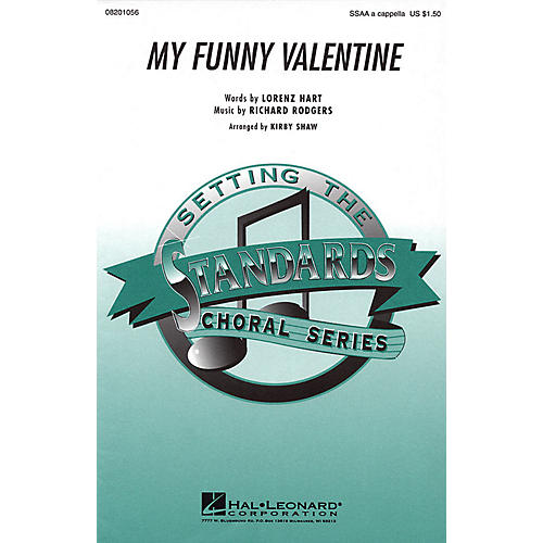 Hal Leonard My Funny Valentine SSAA A Cappella arranged by Kirby Shaw