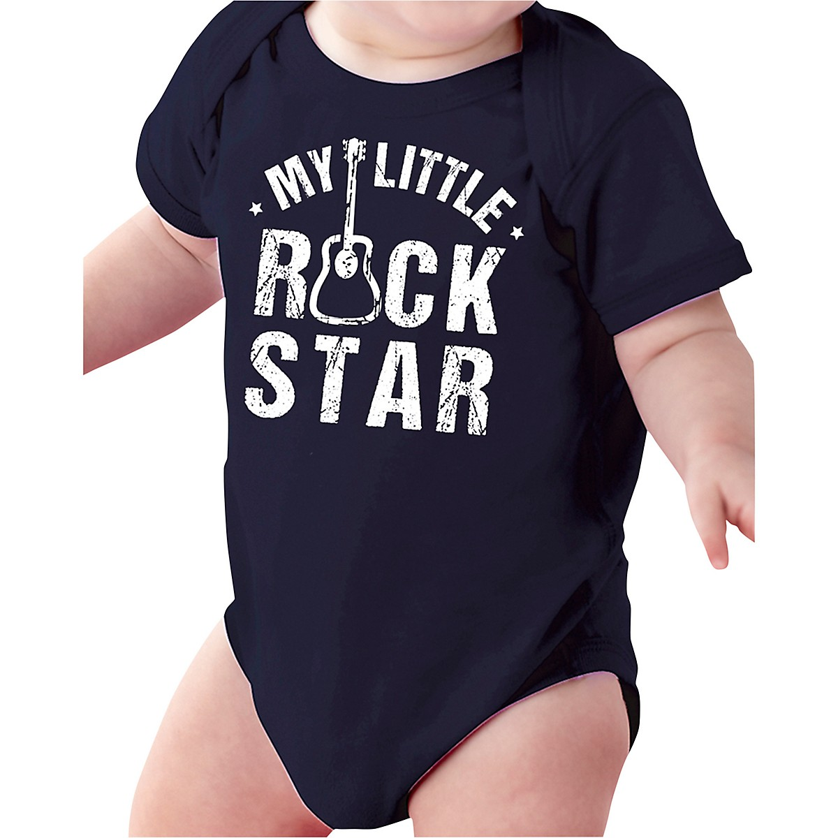 Guitar Center My Little Rockstar Black Baby Onesie