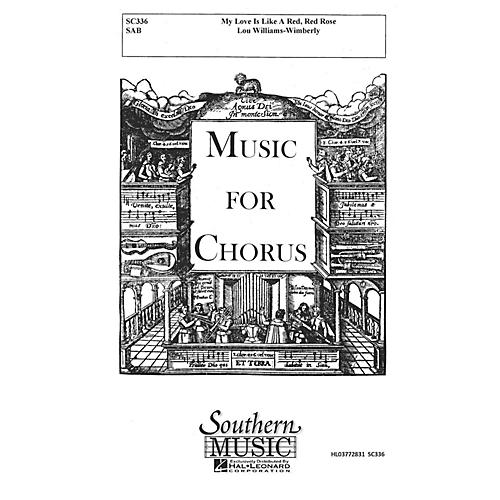 Hal Leonard My Love Is like a Red, Red Rose (Choral Music/Octavo Secular Sab) SAB Composed by Williams-wimberly, Lou