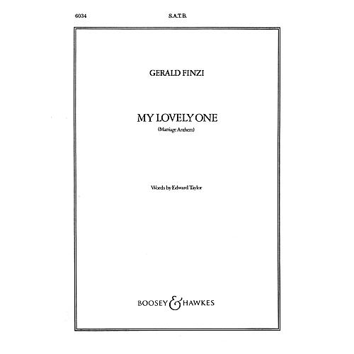 Boosey and Hawkes My Lovely One (Marriage Anthem) SATB Divisi composed by Gerald Finzi
