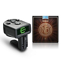 D'Addario NB1253 Nickel Bronze Light Acoustic Strings 3-Pack with FREE NS Micro Headstock Tuner