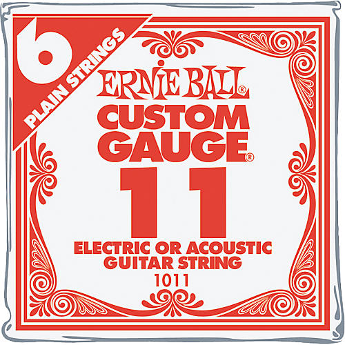 Ernie Ball NCKL Plain Single Guitar String 6-Pack