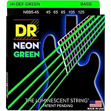 DR Strings NEON Hi-Def Green Bass SuperStrings Medium 5-String