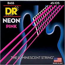 DR Strings NEON Hi-Def Pink Bass SuperStrings Medium 4-String Level 1