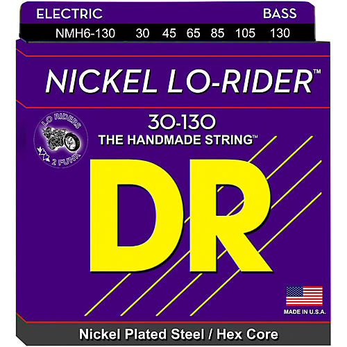 DR Strings Nickel Lo-Rider 6 String Bass Medium .130 Low B (30-130)