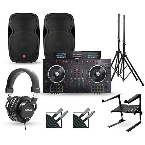 Numark NS7III with Harbinger V1015 DJ Package