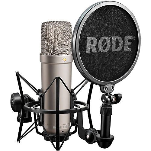 Rode NT1-A Large-Diaphragm Condenser Microphone With SM6 Shockmount and Pop filter, XLR Cable and Dust Cover