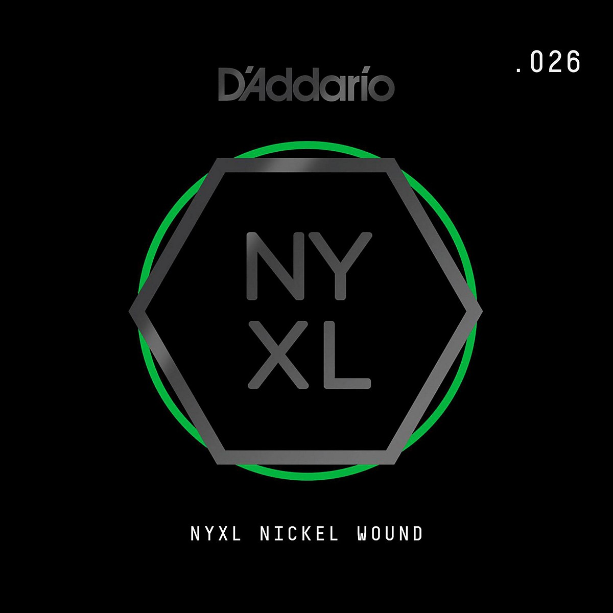 D'Addario NYNW026 NYXL Nickel Wound Electric Guitar Single String, .026