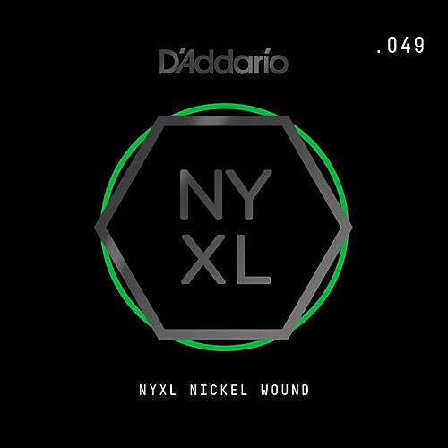 D'Addario NYNW049 NYXL Nickel Wound Electric Guitar Single String, .049
