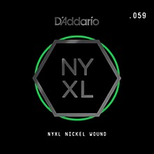 D'Addario NYNW059 NYXL Nickel Wound Electric Guitar Single String, .059