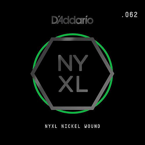 D'Addario NYNW062 NYXL Nickel Wound Electric Guitar Single String, .062