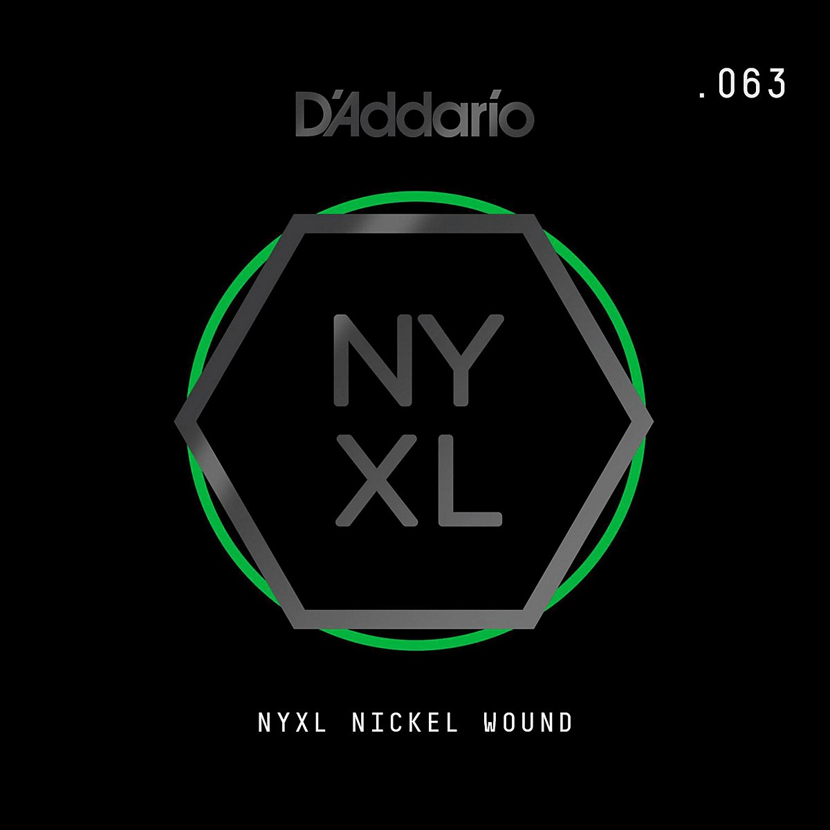 D'Addario NYNW063 NYXL Nickel Wound Electric Guitar Single String, .063