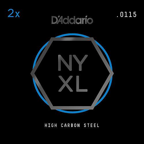 D'Addario NYPL0115 Plain Steel Guitar Strings 2-Pack, .0115