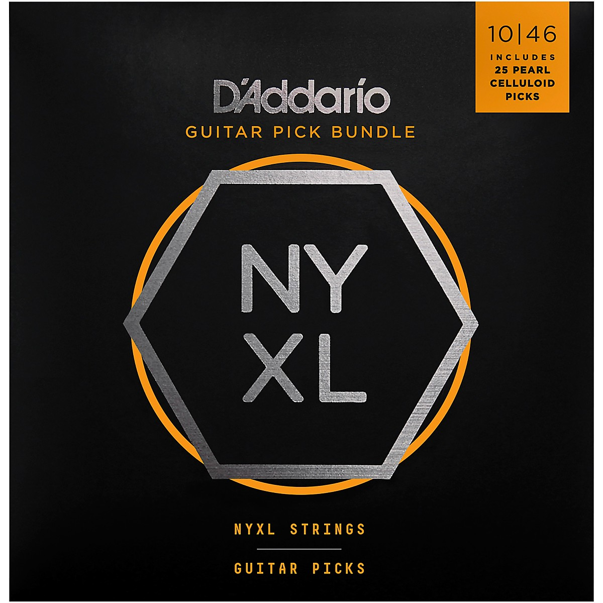 D'Addario NYXL Electric Guitar Strings with 25 Celluloid Picks