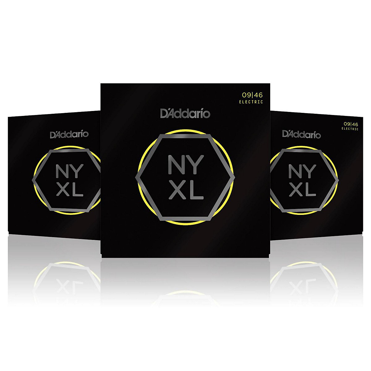 D'Addario NYXL0946 Super Light Top/Regular Bottom 3-Pack Electric Guitar Strings