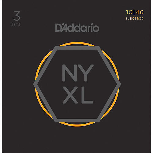 D'Addario NYXL1046 Light 3-Pack Electric Guitar Strings