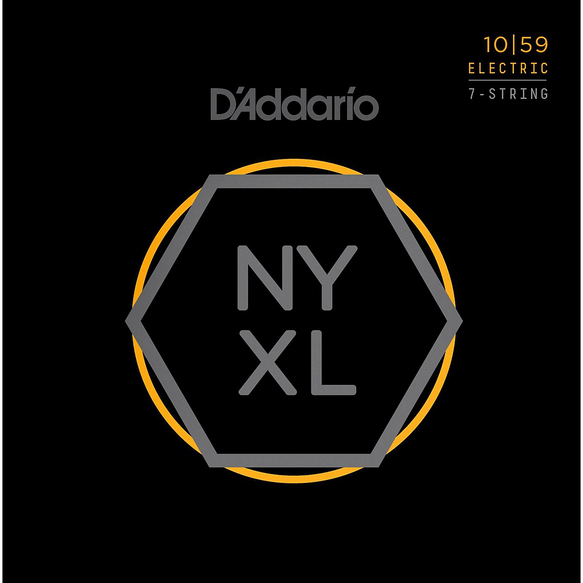 D'Addario NYXL1059 7-String Light Nickel Wound Electric Guitar Strings (10-59)