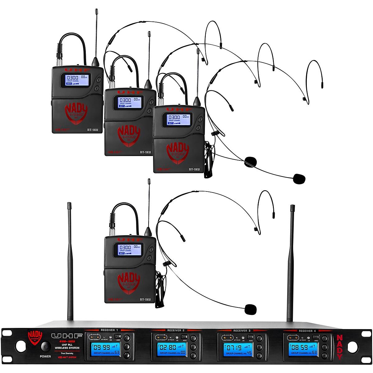 Nady Nady 4W-1KU-HM10 Beige, 1000-channel Headset Wireless System