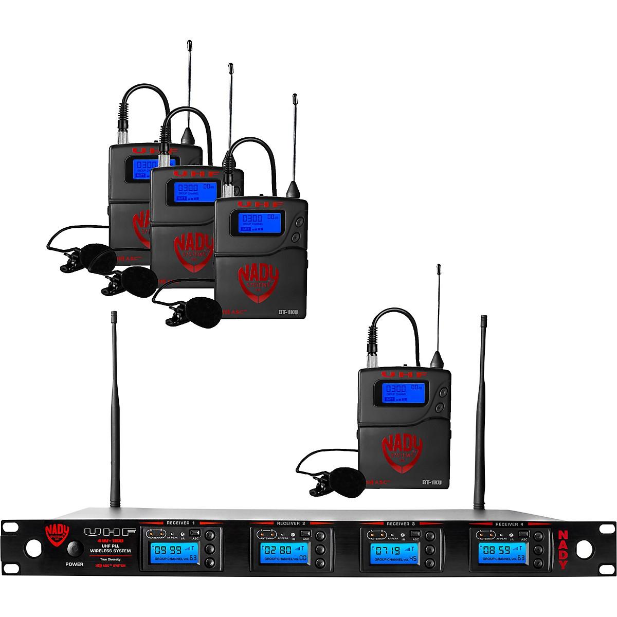 Nady Nady 4W-1KU-LT, 1000-channel Professional Lavaliere/Lapel Wireless System