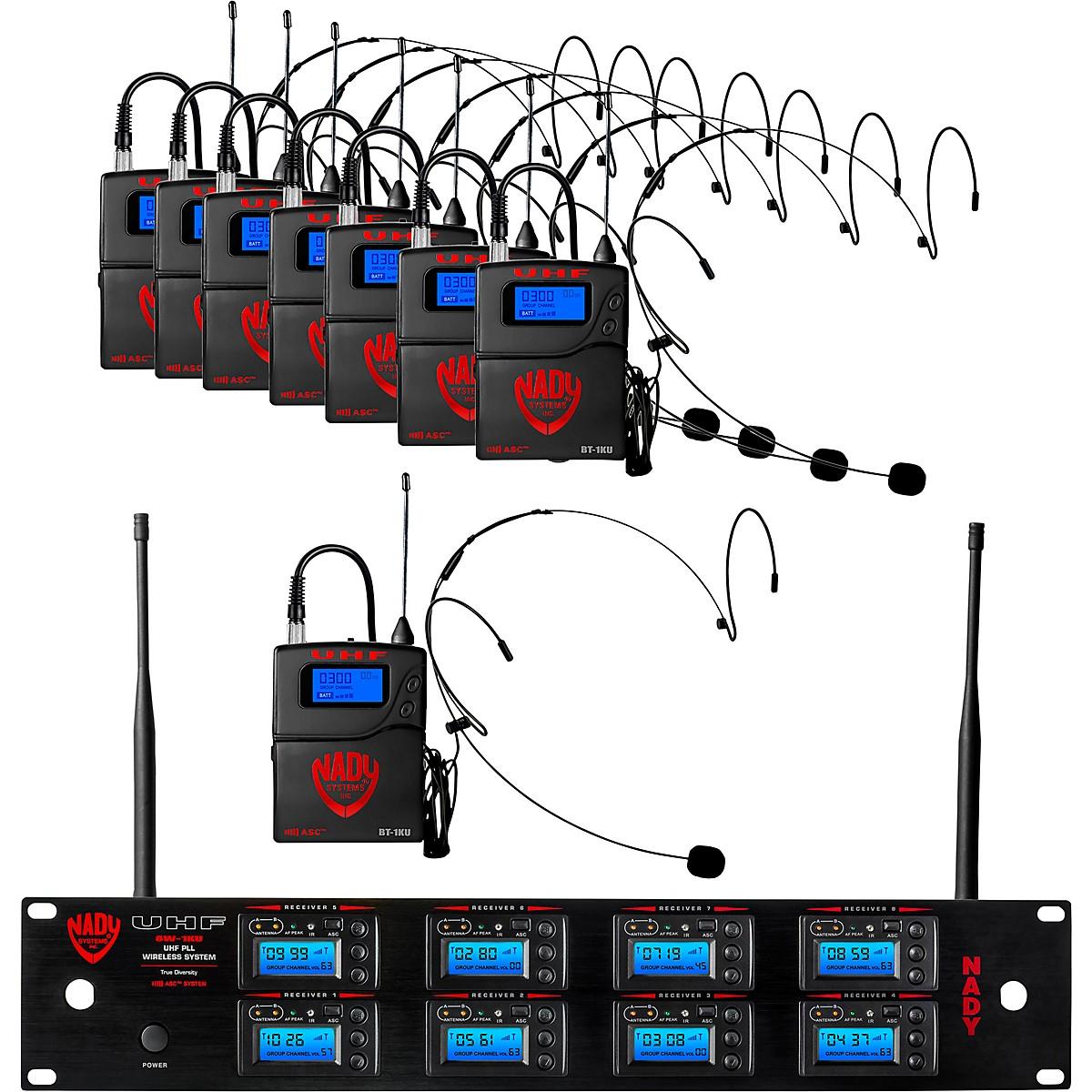 Nady Nady 8W-1KU Eight 1000-Channel Headset Wireless System, Black