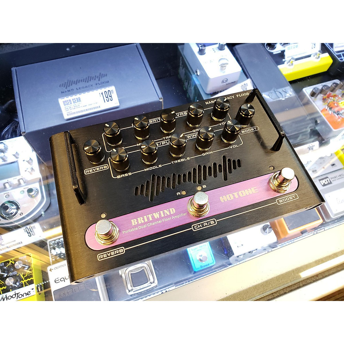 Hotone Effects Nano Legacy Floor Britwind Effect Pedal